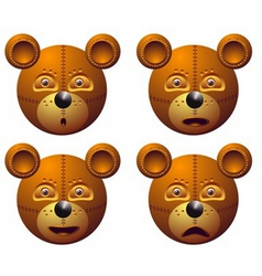 robot bear vector image