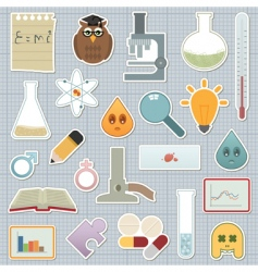 Science stickers vector