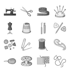 Sea animals set icons in monochrome style big vector