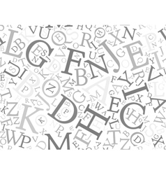 Seamless background pattern mosaic of grey letters vector image
