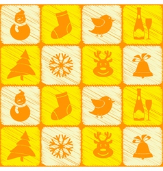 Seamless background with christmas elements vector image
