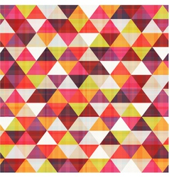 Seamless geometric triangle pattern vector