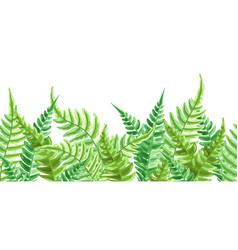 seamless pattern with fern leaves vector image