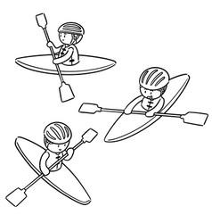 set of kayak vector image