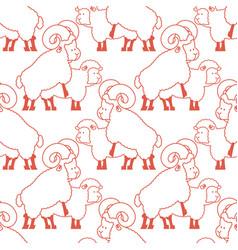 sheep sex pattern farm animal intercourse vector image