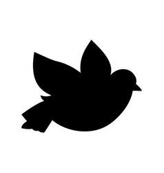 silhouette of a dove vector image