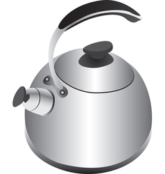 silver kettle vector image