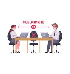 social distancing concept vector image
