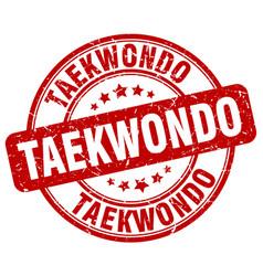 Taekwondo stamp vector