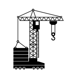 Tower Crane Icon in White Background vector
