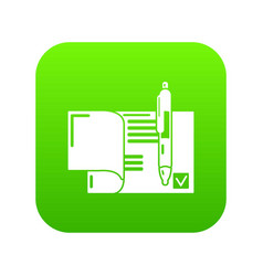 treaty icon green vector image