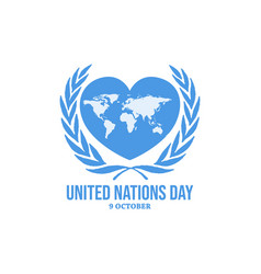 United nations day background icon history vector