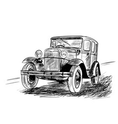 very old car vector image