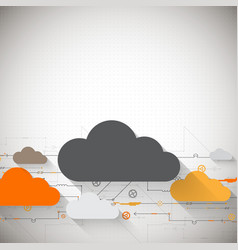 Web cloud technology business abstract background vector