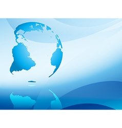 blue abstract background with continents vector image vector image