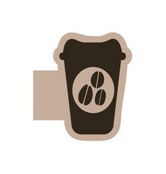 contour emblem coffee espresso icon vector image