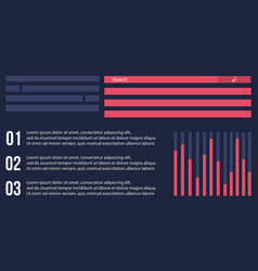 Design graphic and data business infographic vector