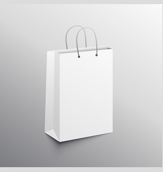 empty shopping bag mockup design template vector image vector image