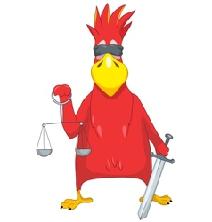 Funny parrot law vector