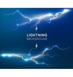 New lightning flash strike background vector