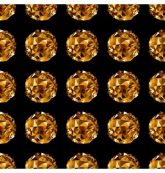 Disco ball Gold seamless background vector image