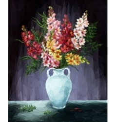 Freesia Flowers vector image vector image