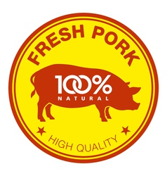 Fresh pork label vector image vector image