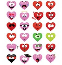smiley hearts vector image