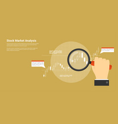 stock market analysis vector image