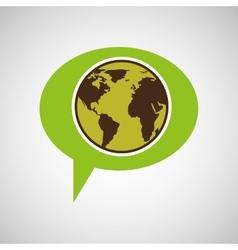 symbol environment globe graphic vector image