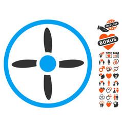 Drone screw icon with lovely bonus vector