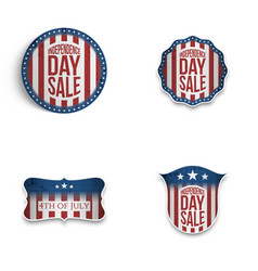 independence day patriotic emblems and shields set vector image vector image