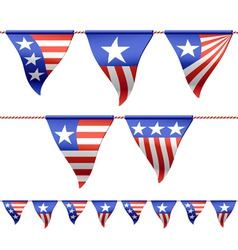 patriotic flags vector image vector image