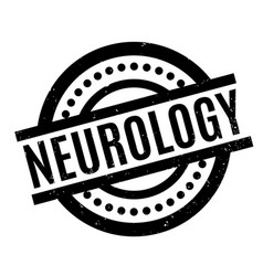 neurology rubber stamp vector image