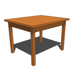 3d image - simple brown isolated desk vector
