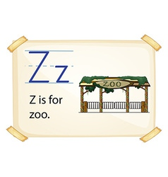 A letter Z for zoo vector image