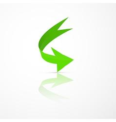 Abstract 3d green arrow icon vector