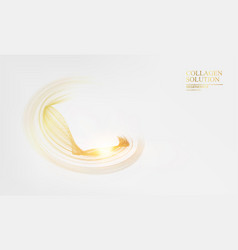 abstract card with golden flow over gray vector image