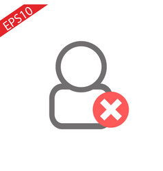 add or plus user line icon isolated on vector image
