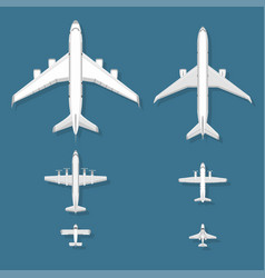 Airplane top view plane and vector