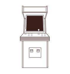 Arcade retro videogame cartoon in black and white vector