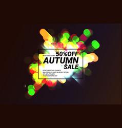 autumn super sale sale for halloween vector image