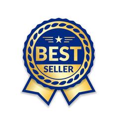 Award ribbon the best seller vector