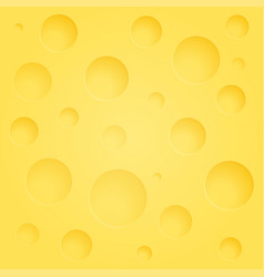 background of cheese with holes vector image