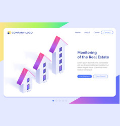 banner monitoring real estate vector image