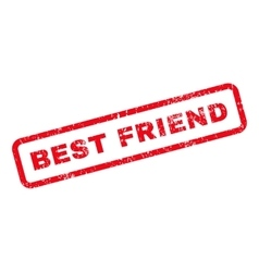 Best Friend Text Rubber Stamp vector