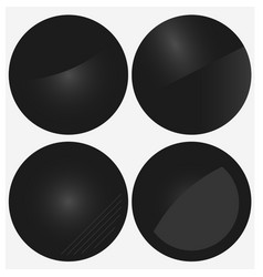 Black circle banners vector