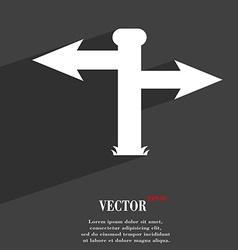 Blank Road Sign icon symbol Flat modern web design vector image