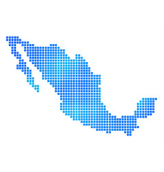 Blue dot mexico map vector
