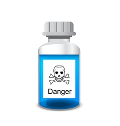 Bottle with colored toxic solution vector image